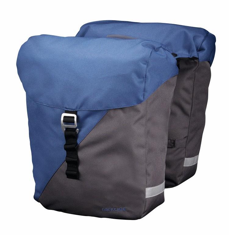 racktime fahrrad doppel gep cktr gertaschen vida blau grau. Black Bedroom Furniture Sets. Home Design Ideas